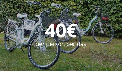 1 Night stay + Bike - 40€ per person per day