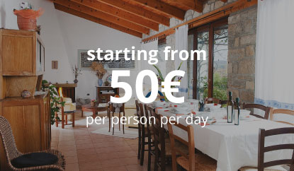 1 Night stay + Meals - starting from 50€ per person per day