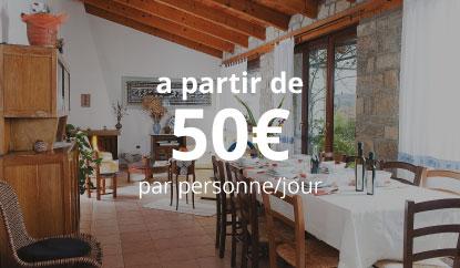 1 Nuit + Repas - a partir de 50€ par personne/jour