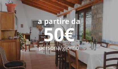 Pernottamento + Pasti - a partire da 50€ persona/giorno