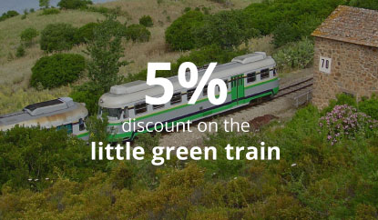 Green Train + Nuraghes - 5% discount on the little green train